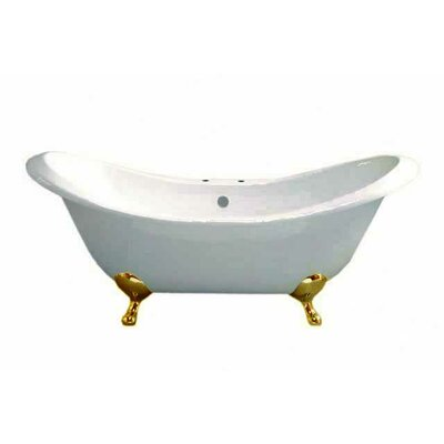 Moon 72 x 32 Soaking Bathtub Leg Finish: Supercoated, Faucet Mount: 7 Center Deck Mount Holes