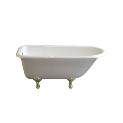 Geneva 61 x 31 Soaking Bathtub Leg Finish: Matte Nickel, Faucet Mount: No Holes