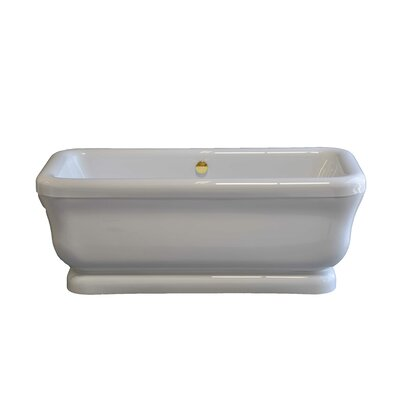 Solitude 70 x 34 Soaking Bathtub Drain Finish: Supercoated Brass