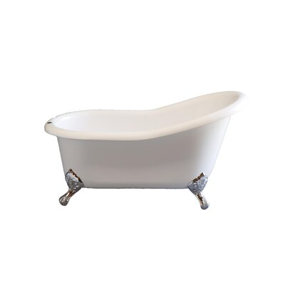 Huron 60 x 32 Soaking Bathtub Leg Finish: Polished Nickel, Faucet Mount: 7 Center Rim Mount Holes