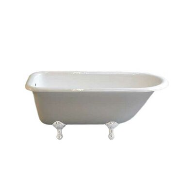 Geneva 61 x 31 Soaking Bathtub Leg Finish: White, Faucet Mount: No Holes