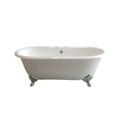 Mendocino 62 x 31 Soaking Bathtub Leg Finish: Matte Nickel, Faucet Mount: 7 Center Deck Mount Holes