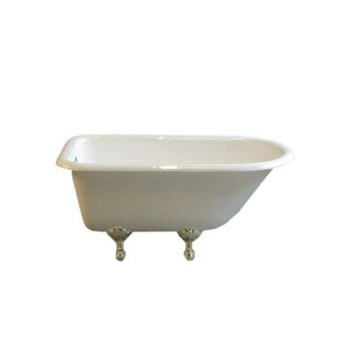 Harmony 49 x 31 Soaking Bathtub Leg Finish: Matte Nickel