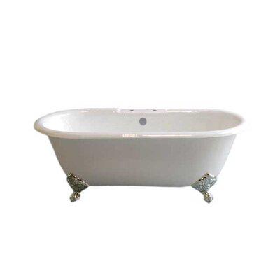Mendocino 62 x 31 Soaking Bathtub Leg Finish: Nickel, Faucet Mount: 7 Center Deck Mount Holes