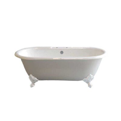 Mendocino 62 x 31 Soaking Bathtub Leg Finish: White, Faucet Mount: 7 Center Deck Mount Holes