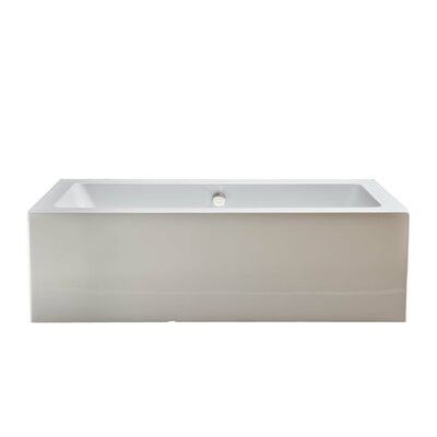 Grenada 71 x 32 Soaking Bathtub Finish: Matte Nickel