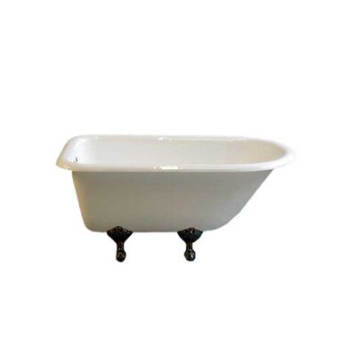 Harmony 49 x 31 Soaking Bathtub Leg Finish: Oil Rubbed Bronze