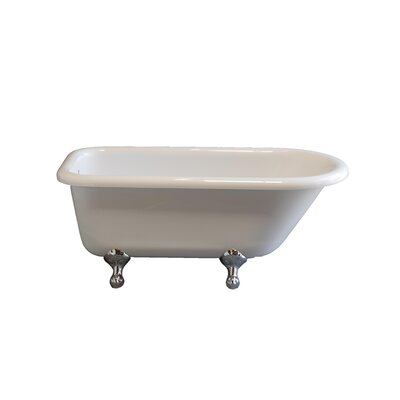 Traditional 61 x 30 Soaking Bathtub Leg Finish: White, Faucet Mount: No Holes