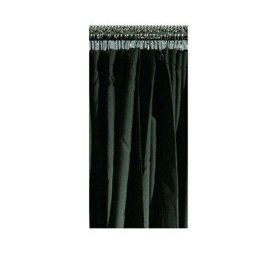 Vinyl Extended Shower Curtain Finish: Black Fabric