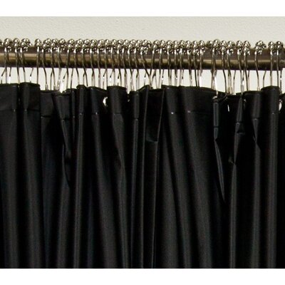 Vinyl Extended Shower Curtain Finish: Black Vinyl