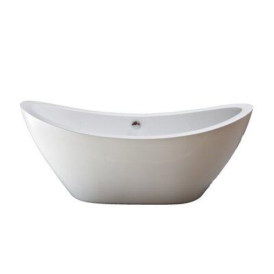 Seneca 65 x 31 Soaking Bathtub Finish: Chrome
