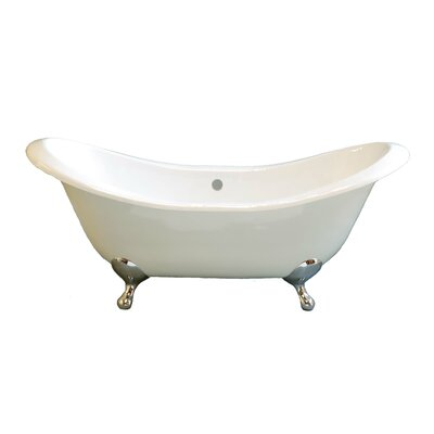 Alpine 72 x 32 Soaking Bathtub Leg Finish: Matte Nickel