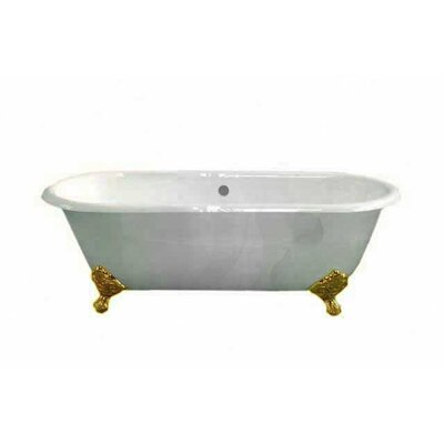 Cloud 67 x 31 Soaking Bathtub Leg Finish: Supercoated Brass