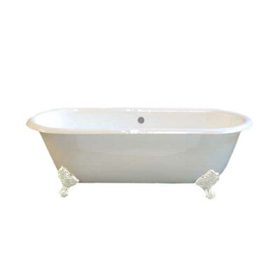 Cloud 67 x 31 Soaking Bathtub Leg Finish: White