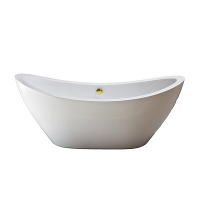 Seneca 65 x 31 Soaking Bathtub Finish: Supercoated Brass