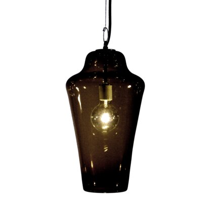 Vesuvius Lavra 1-Light Pendant Shade Color: Ink, Finish: Nickel with Silver Nylon Wire