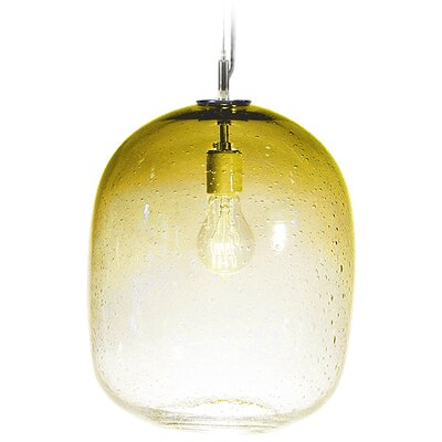 Fizz Cosmos 1-Light Pendant Finish: Nickel with Silver Nylon Wire, Shade Color: Amber