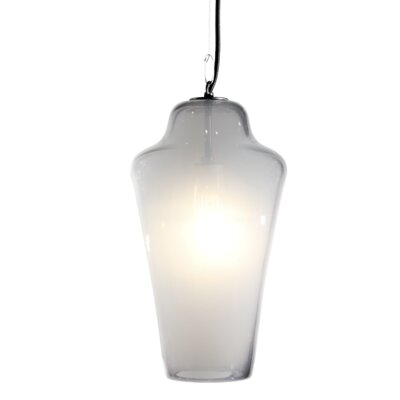 Vesuvius Lavra 1-Light Pendant Shade Color: Opal, Finish: Nickel with Silver Nylon Wire
