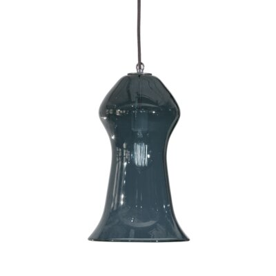 Vesuvius Gama 1-Light Pendant Shade Color: Slate, Finish: Nickel with Silver Nylon Wire