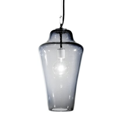 Vesuvius Lavra 1-Light Pendant Finish: Nickel with Silver Nylon Wire, Shade Color: C-Thru