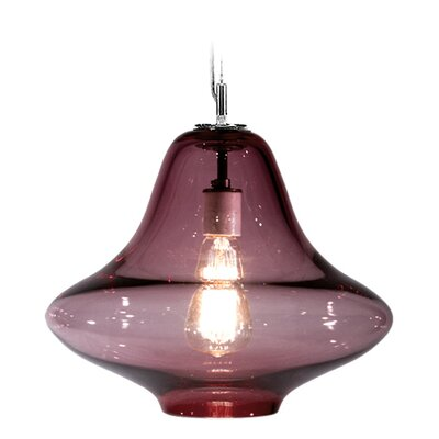 Vesuvius Venus 1-Light Pendant Finish: Nickel with Silver Nylon Wire, Shade Color: Amethyst
