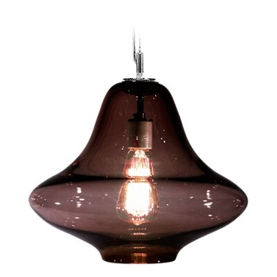 Vesuvius Venus 1-Light Pendant Shade Color: Ink, Finish: Nickel with Silver Nylon Wire
