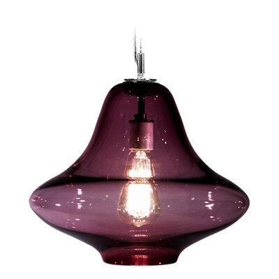 Vesuvius Venus 1-Light Pendant Finish: Nickel with Silver Nylon Wire, Shade Color: Lilac