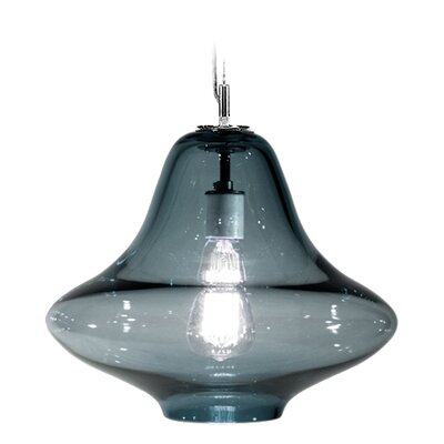 Vesuvius Venus 1-Light Pendant Finish: Nickel with Silver Nylon Wire, Shade Color: Slate