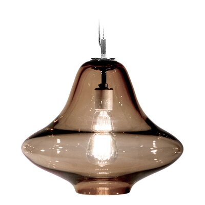Vesuvius Venus 1-Light Pendant Shade Color: Tea, Finish: Nickel with Silver Nylon Wire