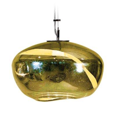 Vista Swirl Galaxy 1-Light Pendant Finish: Nickel with Silver Nylon Wire, Shade Color: Gold