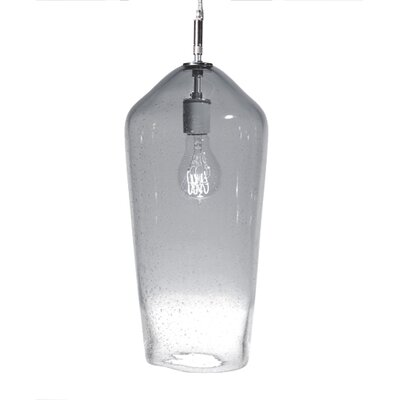 Fizz Comet 1-Light Pendant Finish: Nickel with Silver Nylon Wire, Shade Color: Charcoal
