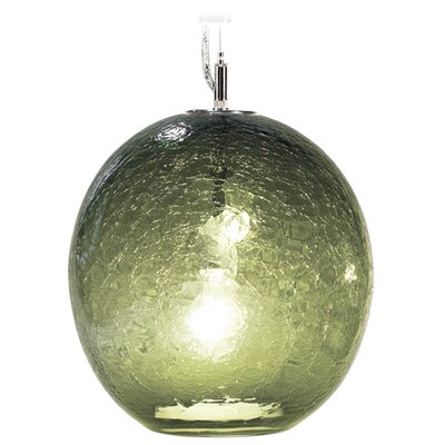 Boa Solaris 1-Light Globe Pendant Finish: Nickel with Silver Nylon Wire, Shade Color: Moss