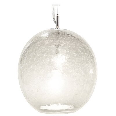 Boa Solaris 1-Light Globe Pendant Shade Color: Opal, Finish: Nickel with Silver Nylon Wire