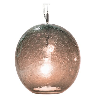 Boa Solaris 1-Light Globe Pendant Shade Color: Tea, Finish: Nickel with Silver Nylon Wire