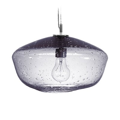 Fizz Galaxy 1-Light Pendant Finish: Nickel with Silver Nylon Wire, Shade Color: Charcoal