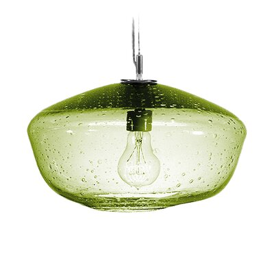 Fizz Galaxy 1-Light Pendant Finish: Nickel with Silver Nylon Wire, Shade Color: Citron