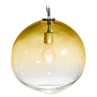 Fizz Solaris 1-Light Globe Pendant Finish: Nickel with Silver Nylon Wire, Shade Color: Amber