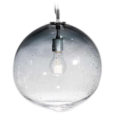 Fizz Solaris 1-Light Globe Pendant Shade Color: Charcoal, Finish: Nickel with Silver Nylon Wire