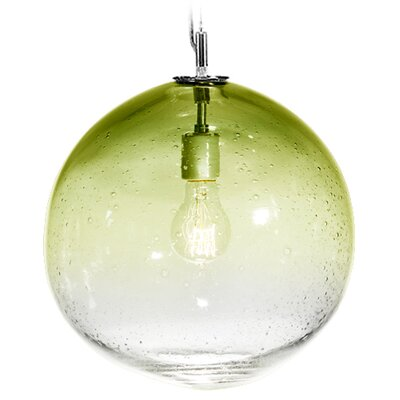Fizz Solaris 1-Light Globe Pendant Finish: Nickel with Silver Nylon Wire, Shade Color: Citron
