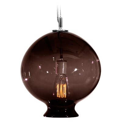 Vesuvius Juno 1-Light Pendant Shade Color: Ink, Finish: Nickel with Silver Nylon Wire