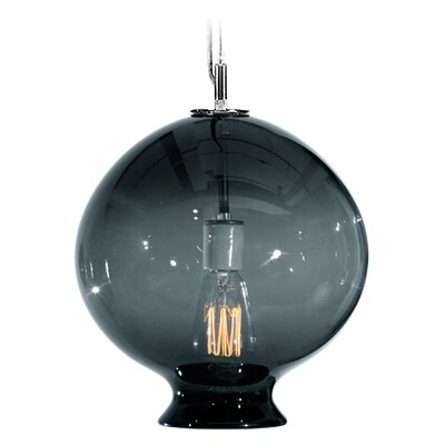 Vesuvius Juno 1-Light Pendant Shade Color: Slate, Finish: Nickel with Silver Nylon Wire