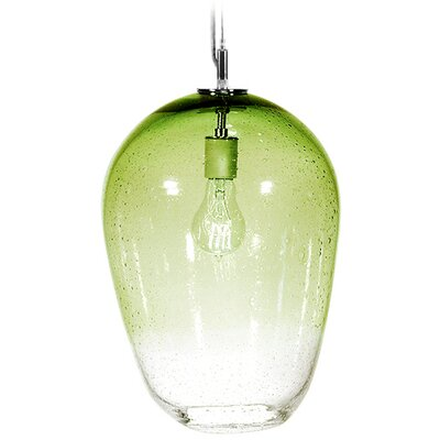 Fizz Zenith 1-Light Pendant Finish: Nickel with Silver Nylon Wire, Shade Color: Citron