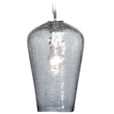 Boa Comet 1-Light Pendant Finish: Nickel with Silver Nylon Wire, Shade Color: C-Thru