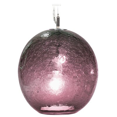 Boa Solaris 1-Light Globe Pendant Finish: Nickel with Silver Nylon Wire, Shade Color: Amethyst