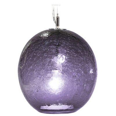 Boa Solaris 1-Light Globe Pendant Finish: Nickel with Silver Nylon Wire, Shade Color: Blue Lilac