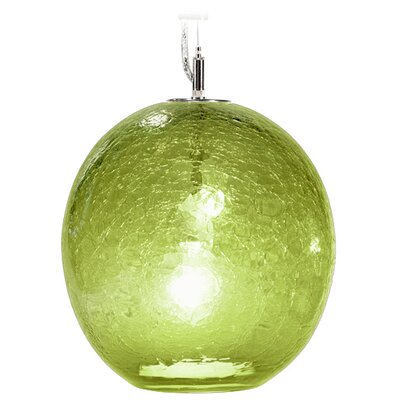 Boa Solaris 1-Light Globe Pendant Finish: Nickel with Silver Nylon Wire, Shade Color: Citron