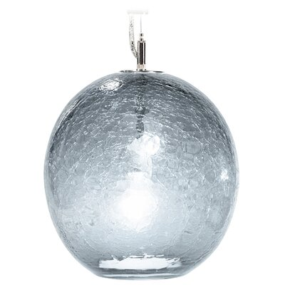 Boa Solaris 1-Light Globe Pendant Finish: Nickel with Silver Nylon Wire, Shade Color: C-Thru