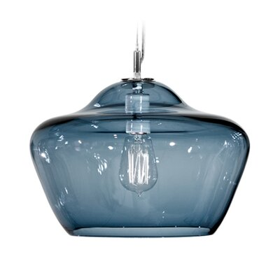 Vesuvius Aura 1-Light Pendant Finish: Nickel with Silver Nylon Wire, Shade Color: Slate