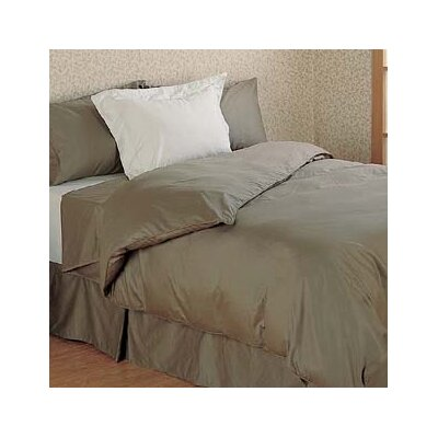Versaille 300 Thread Count 100% Cotton Drop Fitted Sheet Color: Taupe, Size: Full / Double