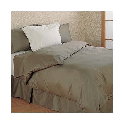 Versaille 300 Thread Count 100% Cotton Oversized Flat Sheet Color: Taupe, Size: Twin